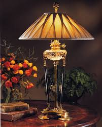 Traditional Brass Desk Lamps Crystal Lamp Crystal Lamp With Bronze Trim And Cut Crystal