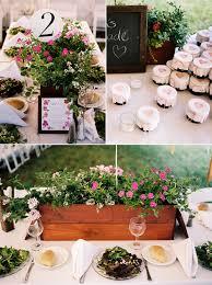 flower box centerpiece wedding