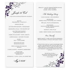 wedding program formats fan wedding programs template sle trifold catholic wedding