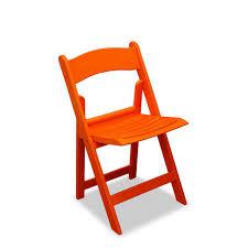 Stylish Folding Chairs Furniture Resin Cheap Folding Chairs In Orange For Home Furniture