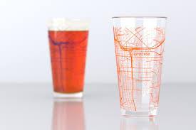Syracuse University Map Syracuse Ny Syracuse University College Town Map Pint Glass