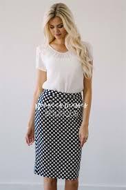 navy polka dot skirt for church modest bridesmaids dresses
