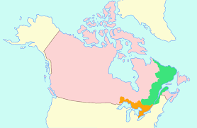 Canada French Speaking Map by American Revolution Loyalists U0026 Us Canadian History