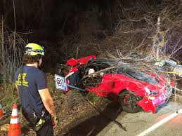 p1 crash ferrari destroyed when alleged drunk driver goes airborne flips