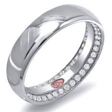 rings tacori wedding rings womens eternity bands scalloped