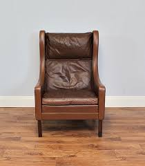 Danish Leather Armchair Two Tone Stouby Retro Leather Armchair Danish Vinterior