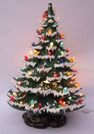 vintage large 23 ceramic christmas tree snow flocked lighted