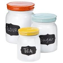 stoneware canisters w chalkboard labels target saw these at