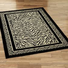 Black And Brown Area Rugs Safari And African Home Decor Touch Of Class