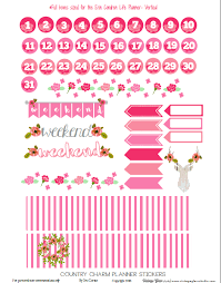 printable country stickers country charm planner stickers free printable country charm