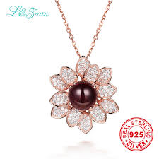 sted necklaces l zuan 925 sterling silver 2 86ct tourmaline brown