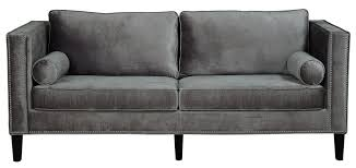 Gray Sleeper Sofa Sofa Engaging Gray Velvet Tufted Sofa Grey Sleeper Amazon
