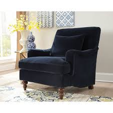 Navy Blue Accent Chair Donny Osmond Home Midnight Blue Accent Chair Blue Accent Chairs