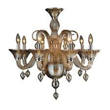 worldwide lighting murano venetian style 8 light amber orange