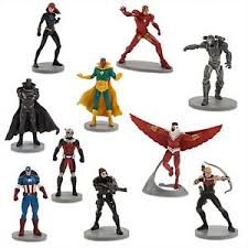 marvel cake toppers marvel captain america civil war figure set 10 figurines