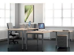 servante de bureau bureau avec pied métal réglable en hauteur essentiel et
