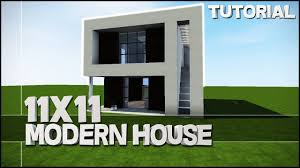 Best House Minecraft House Tutorial 11x11 Modern House Best House Tutorial