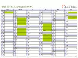 Kalender 2018 Mv Ferien Meck Pomm 2017 Ferienkalender Zum Ausdrucken