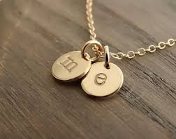 initials necklace initial necklace etsy