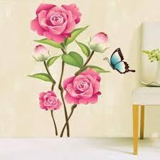 happy walls pink rose flower bunch art price in india buy happy happy walls pink rose flower bunch art add to cart