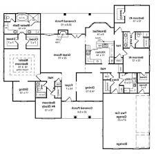 ranch homes floor plans decor 5 bedroom ranch house plans open concept ranch floor