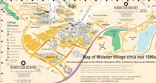 Canada Highway Map by Map Of Whistler Resort Bc Part Of Vancouver Whistler 2010