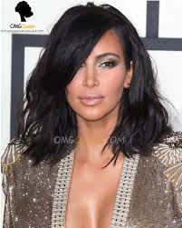 kim kardashian haircut bob lace wigs virgin brazilian hair