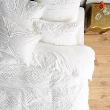 bedding white textured caya duvet