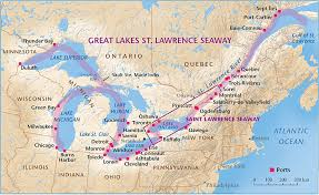 st seaway map map of st seaway going into great lakesusa
