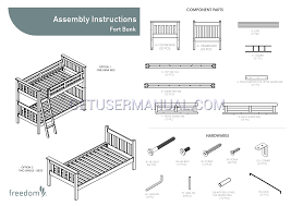 Bunk Bed Assembly Freedom Beds Fort Bunk Bed Assembly Free