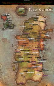 kalimdor map kalimdor map from of warcraft maps com