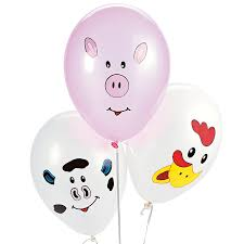 make your own farm animal balloons x 12 pig cow u0026 chicken
