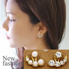 earring jacket online shop new design gold earring jackets for women one side