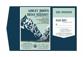 mountain wedding invitations 10 beautiful mountain wedding invitations