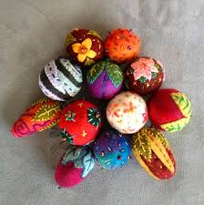 felted wool ornaments judy coates perez