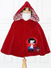 how to make a cape with a hood for a child without sewing red