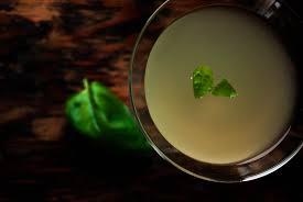 martini basil lemon basil martini