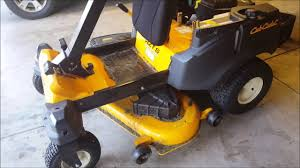 cub cadet rzt oil change and lube youtube