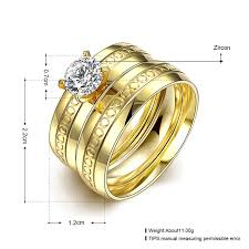 double gold rings images Fashion titanium steel ring double gold engagement ring for women jpg