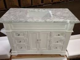 White Bathroom Vanity With Carrera Marble Top by Bath Vanity Base Foter