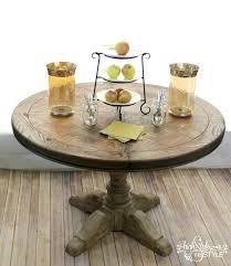restoration hardware inspired pedestal table makeover u2014 highstyle