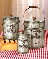 country kitchen canister sets country kitchen canisters sets rustic home decor galvanized steel