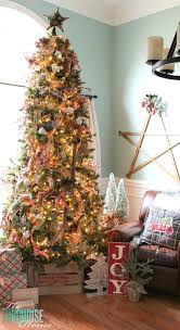burlap christmas a country plaid and burlap christmas tree the turquoise home