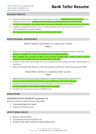Sample Resume For Bank Teller by Download Bank Teller Resume Haadyaooverbayresort Com