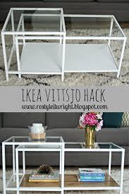 ikea vittsjo hack nesting table wood stain coffee table