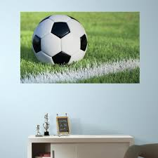 roommates 60 in w x 36 in h soccer 2 piece peel and stick wall roommates 60 in w x 36 in h soccer 2 piece peel and