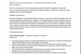 Supply Chain Resume Sample by Supply Chain Resume Sample Reentrycorps