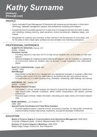 Resume Format For Mba Marketing Fresher Sample Resume For Freshers Degree Templates