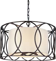 Drum Pendant Troy Lighting F1285sg Silver Gold Sausalito 5 Light Drum Pendant