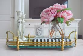 Gold Coffee Table Tray by Tips Makeup Trays Mirrored Vanity Tray Vanity Tray
